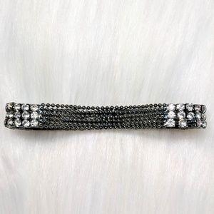 Jewelry - Metal Bead & Rhinestone Bracelet